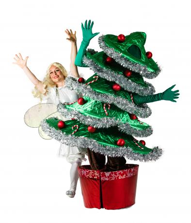 dancing christmas tree and lairy fairy fools paradise